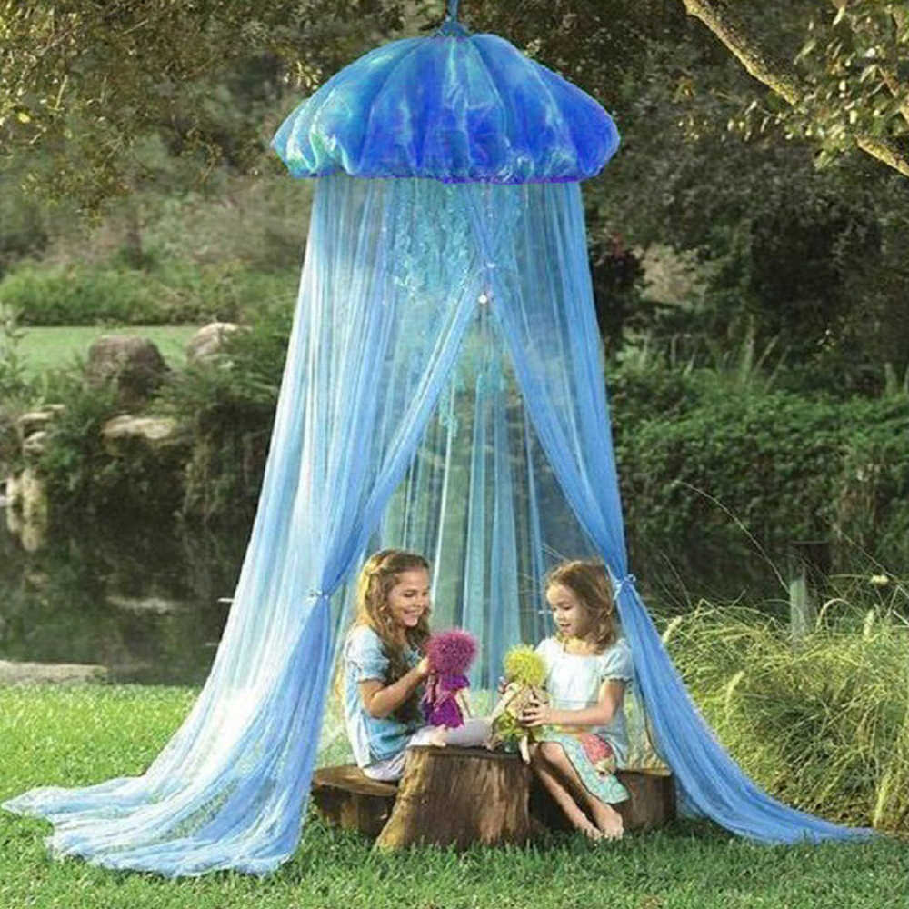 2019Kids Baby Mosquito Net Summer Jellyfish Shaped Bed Curtains Gauze Net Child Jellyfish Tent Playing Reading Canopy Tent Cover