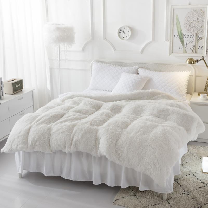 Polar ciepłe 160X200 cm rosyjski rozmiar pościel biały PGray pościel zestaw królowej kołdra okładka łóżko rozprzestrzeniania zestaw parure de lit ropa de cama w Zestawy pościeli od Dom i ogród na  Grupa 3