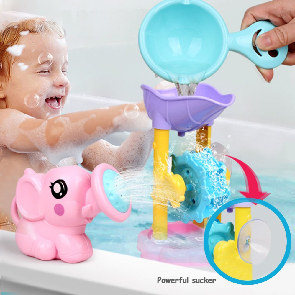 1 Set ABS Kids Bath Toy Play Water Beach Toys Bathroom Interactive Education Shower Sprinkler Kit For Children Shower Game