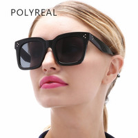 POLYREAL 2017 New Classic Vintage Square Sunglasses Women Brand Designer Retro Shades Mirror Oversized Sun Glasses