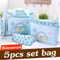 4PCS Set Multifunctional Maternity Bag Baby Diaper Bags Mommy Nappy Bags Stroller Mommy Storage Bag Infant Organizer Pouch MM03