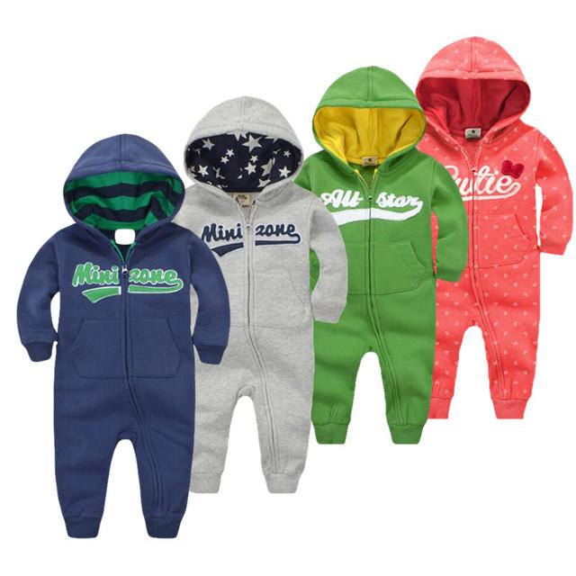 2017 primavera macacão de Bebê Recém-nascido 100% Algodão Roupas agasalho hoodies Manga Longa Bebê Infantil Meninos Meninas jumpsuit roupas de bebê