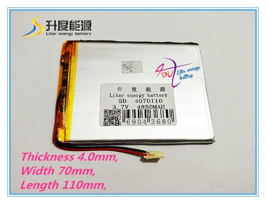 ᓂ3.7 V, 4850 MAH (baterías recargables) para 8 pulgadas y 9 ...