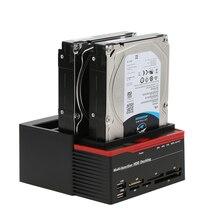 Multifunctional 2.5″/ 3.5″ USB 3.0 to 2 SATA Ports 1 IDE Port External HDD Hard Drive Docking Station Card Reader USB3.0 Hub