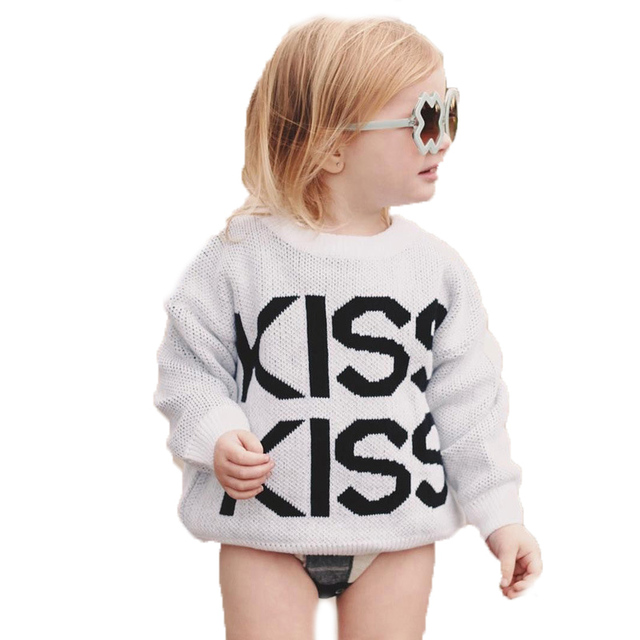 673bead8c Ins  baby girls boy winter sweater 2018 new kids clothes letter ...