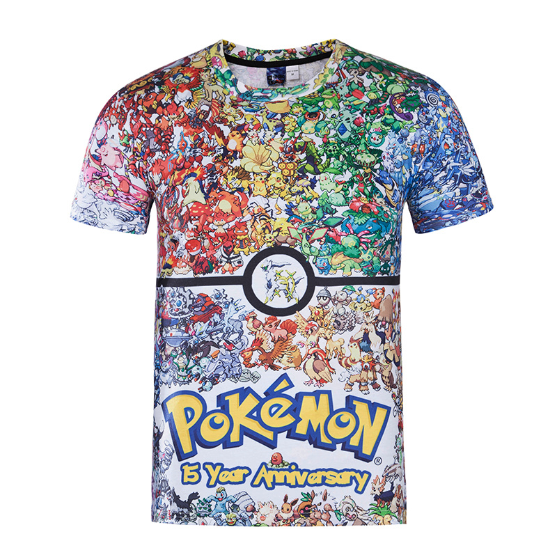 2018 Pokemon de la manera del verano camiseta impresa hombres Pokemon Go  tamaño asiático Delgado manga corta Camisetas ropa barata o-cuello 271c40e0046d1