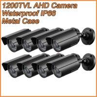 8 шт./лот пули металла AHD аналоговый HD Камеры Скрытого видеонаблюдения 1200TVL AHDM 1.0MP 720 P AHD CCTV Камера безопасности Indoor/Outdoor