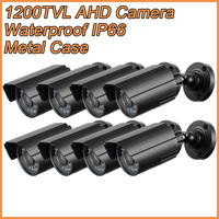 8PCS/lot Metal Bullet AHD Analog HD Surveillance Camera 1200TVL AHDM 1.0MP 720P AHD CCTV Camera Security Indoor/Outdoor