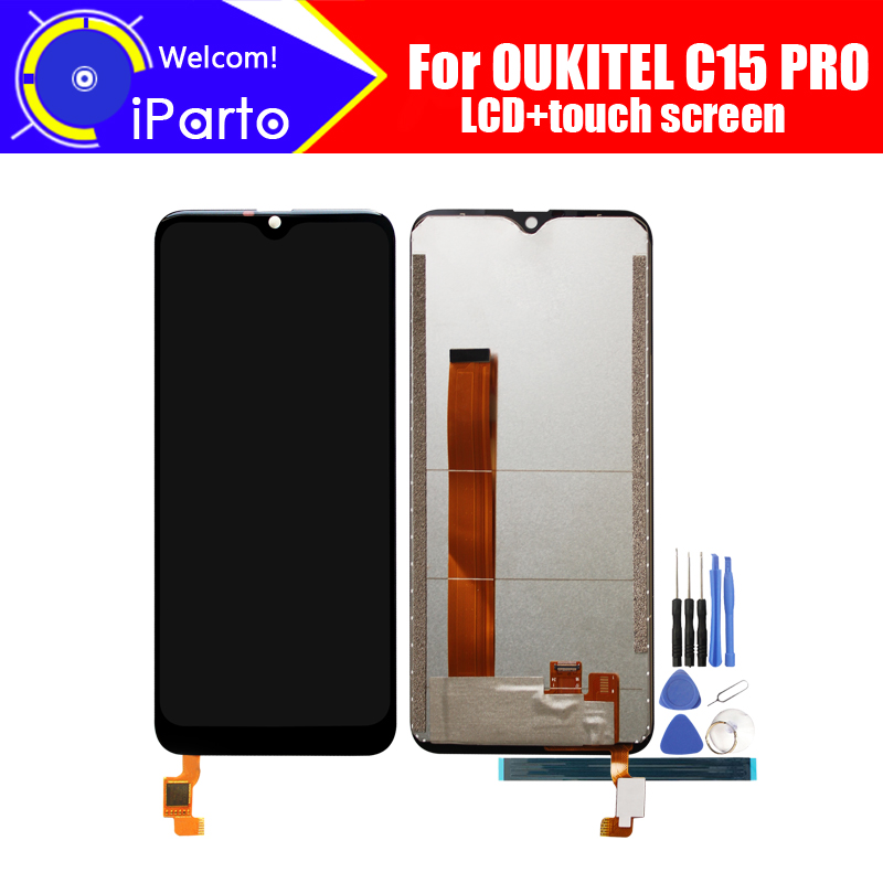 OUKITEL C15 PRO LCD Display+Touch Screen Digitizer 100% Original Tested LCD Screen Glass Panel  For C15 PRO+tools+ AdhesiveOUKITEL C15 PRO LCD Display+Touch Screen Digitizer 100% Original Tested LCD Screen Glass Panel  For C15 PRO+tools+ Adhesive