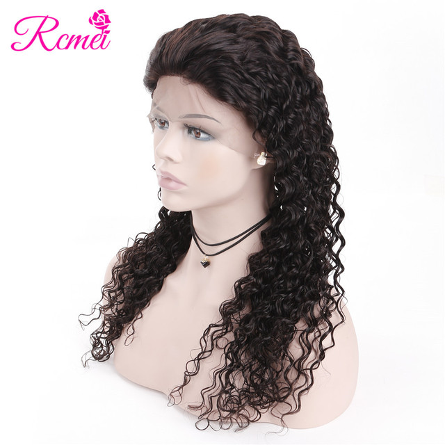 Rcmei Deep Wave 13X4 Lace Front Wigs For Black Women Brazilian Remy Lace Front Human Hair Wigs Natural Pre Plucked With Baby Hai