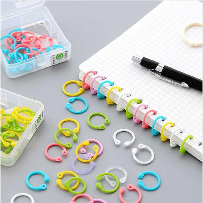 اللون بسيطة خاتم الموثق دفتر فضفاضة أوراق متعددة الوظائف ملزم أداة جولة المفاتيح حلقة رئيسية القرطاسية
