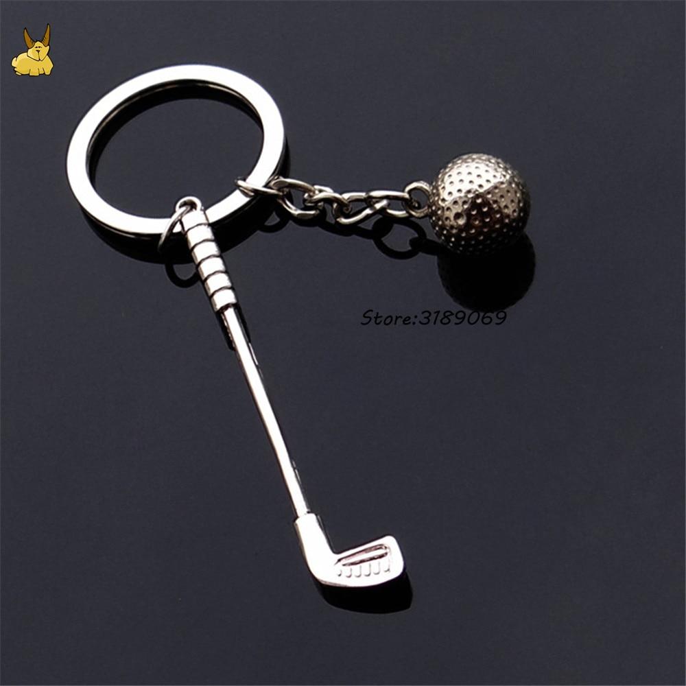 Games souvenir ball key ring metal golf key chain creative gifts for skoda fabia ford focus 2 Vw golf 5 Jaguar keychain keyrings