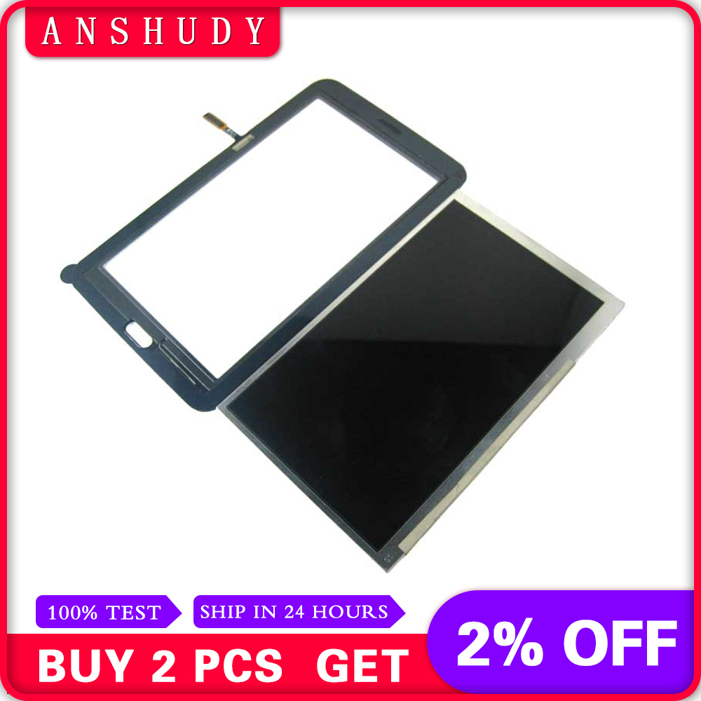 For Samsung Galaxy Tab 3 Lite 7.0 T110 SM T110 LCD Display Panel Monitor Module + Touch Screen Digitizer Sensor Glass