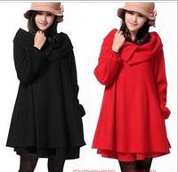2017 New Winter Women's Scarf Collar Skirt Cloak Coat Plus Cashmere Woolen Loose Casual Coletes Feminino Inverno E06