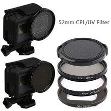 52 мм УФ объектив фильтр защиты CPL круговой поляризационный фильтр для GoPro Hero 7 6 5 черный аксессуары для экшн камеры Go Pro
