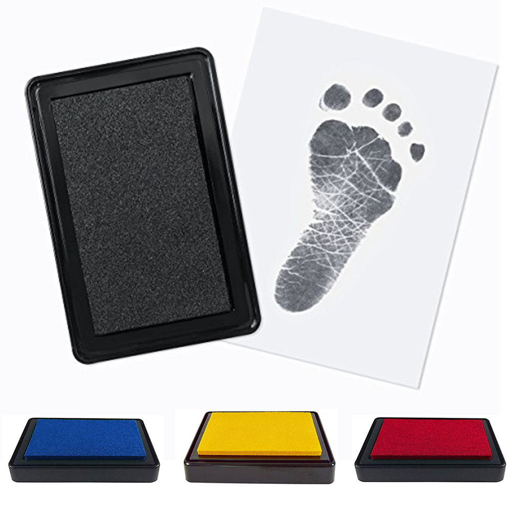 Birthday Photo Gifts Handprint Newborn Ink Pad Footprint Souvenir Baby Shower Keepsakes With Paper Painting Printing Box