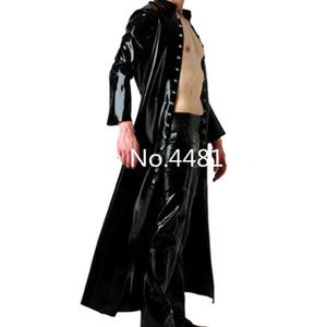 Image 3 - Latex Wind Coat Latex Long Jacket Latex Rubber Mens Suit plus size Priest halloween cosplay costume