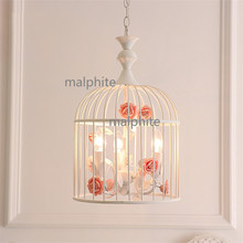 JAXLONG Nordic Style Iron Art Bird Cage Pendant Lamp Living Room Bedroom hanglamp lustre Innovation Lights Loft Lighting