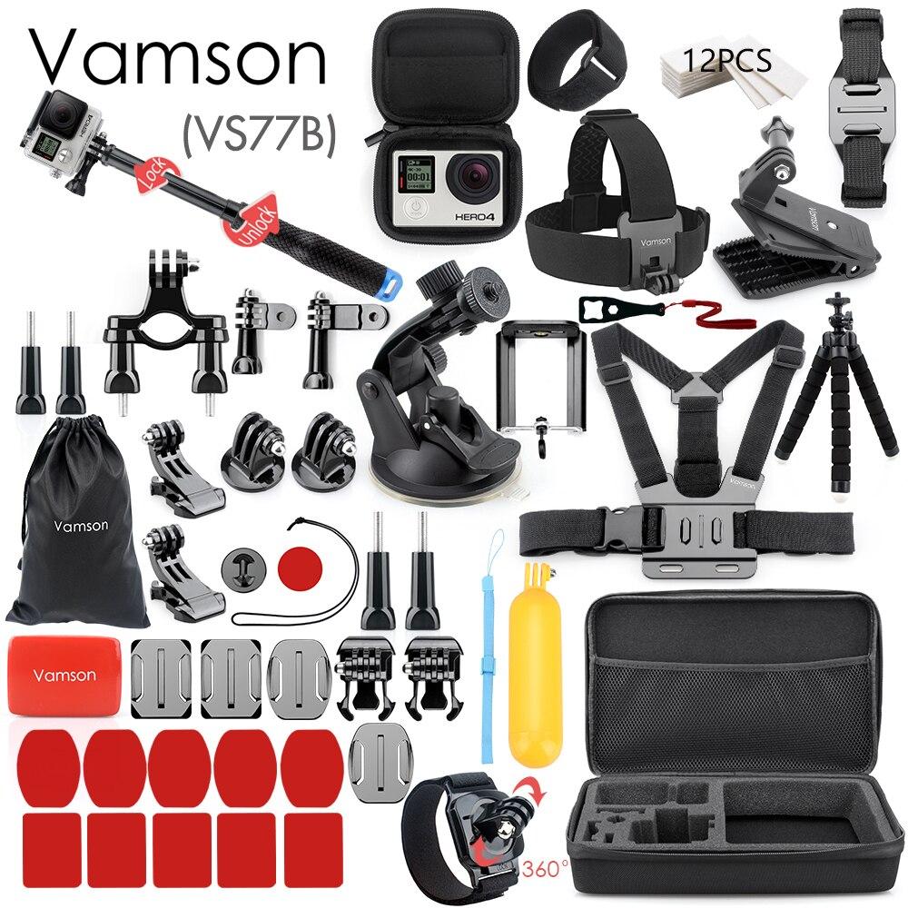 Vamson ل Gopro اكسسوارات مجموعة ل الذهاب برو بطل 8 7 6 5 4 عدة 3 طريقة selfie عصا ل Eken h8r/ل شاومي ل يي إيفا حالة VS77-في جرابات كاميرا الفيديو الرياضية من الأجهزة الإلكترونية الاستهلاكية على AliExpress