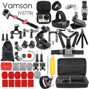 Vamson for Gopro Accessories Set for go pro hero 7 6 5 4 3 kit 3 way selfie stick