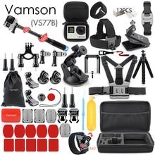 Vamson for Gopro Accessories Set for go pro hero 8 7 6 5 4 kit 3 way selfie stic