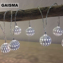 1.5M 3M 6M Battery Operated  Ball LED String Lights Christmas Garland Fairy Lights Decoration For Holiday Party Wedding Lighting string lights new 1 5m 3m 6m fairy garland led ball waterproof for christmas tree wedding home indoor decoration battery powered