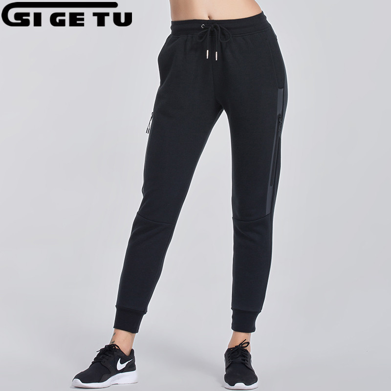2017 New cotton Sportswear Womens elastic Sports and fitness Jogging pants Sportswear Jogging Pants Athletic Running Tights ...