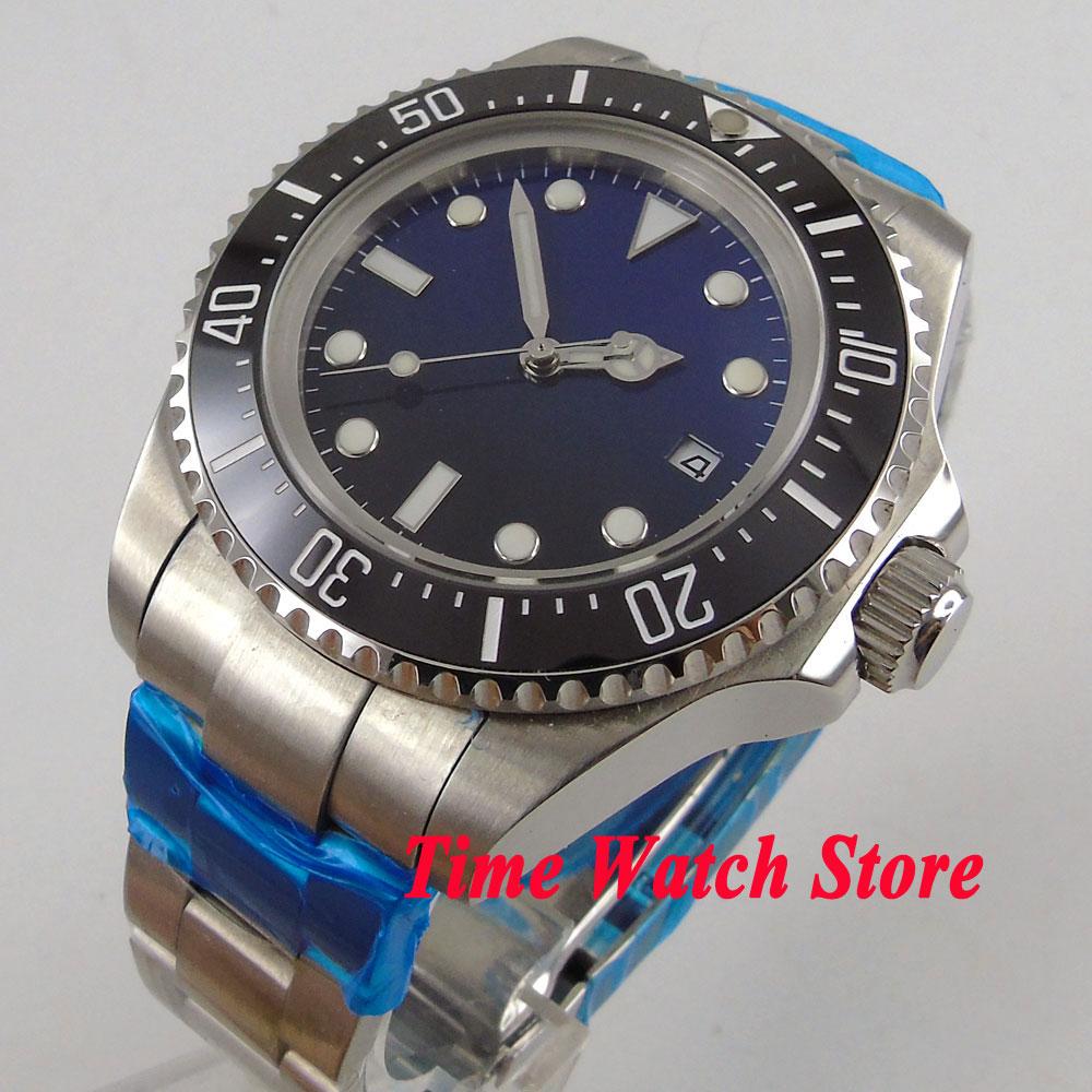 Solid 44mm Gradient color sterile dial luminous hands Ceramic Bezel Automatic movement Mens watch men 941Solid 44mm Gradient color sterile dial luminous hands Ceramic Bezel Automatic movement Mens watch men 941