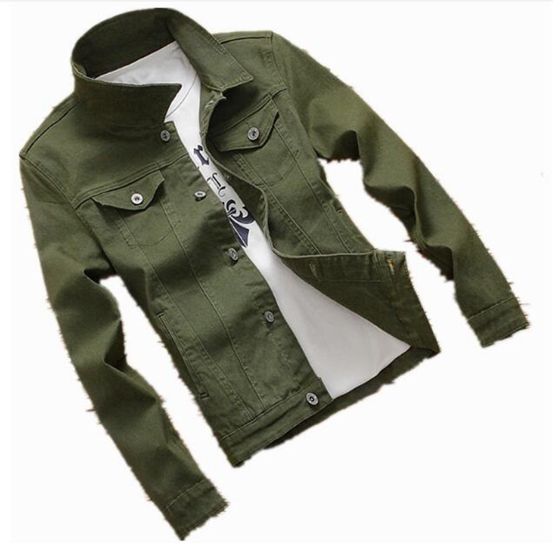 New Mens Denim Baseball Jacket Coat Male Outwear Jeans Jacket and Coats Fashion Design Spring Autumn Clothing