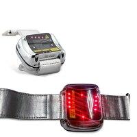 Медицинские лазерные терапия высокое кровяное давление умные часы LLLT лазер акупунктурный массажер наручные часы