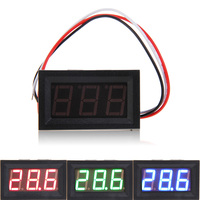 Mini Voltmeter DC 0-10V RGB LED Panel Digital Display Voltage Meter Volt meter LED Panel Monitor