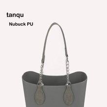 Tanqu 1 זוג Nubuck עור קצה ציור PU שרשרת ידית עם דמעה עבור O תיק עבור EVA Obag נשים תיק