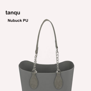 Image 1 - tanqu 1 Pair Nubuck Leather Edge Painting PU Chain Handle with Tear Drop for O Bag for EVA Obag Women Bag