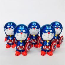 7cm Doraemon Cosplay Avenger Super Hero Wolverine Captain America Classic Comic Anime Robot Cat Figure Toys