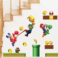 Free Shipping Cartoon Stickers Super Mario Wall Stickers For Kids Rooms Children Wall Stickers Bedroom Home Decor TC1111