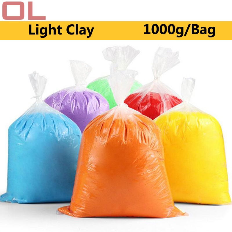 OL 1000g/Bag Slime Magic Clay Polymer Clay Super Light Clay Slime Soft Plasticine Learning Education Toys For Children