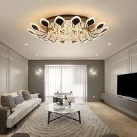 New Arrival Crystal Modern Led Ceiling Lights For Living Room Bedroom Study Room lustre plafonnier Home Deco Ceiling Lamp avize