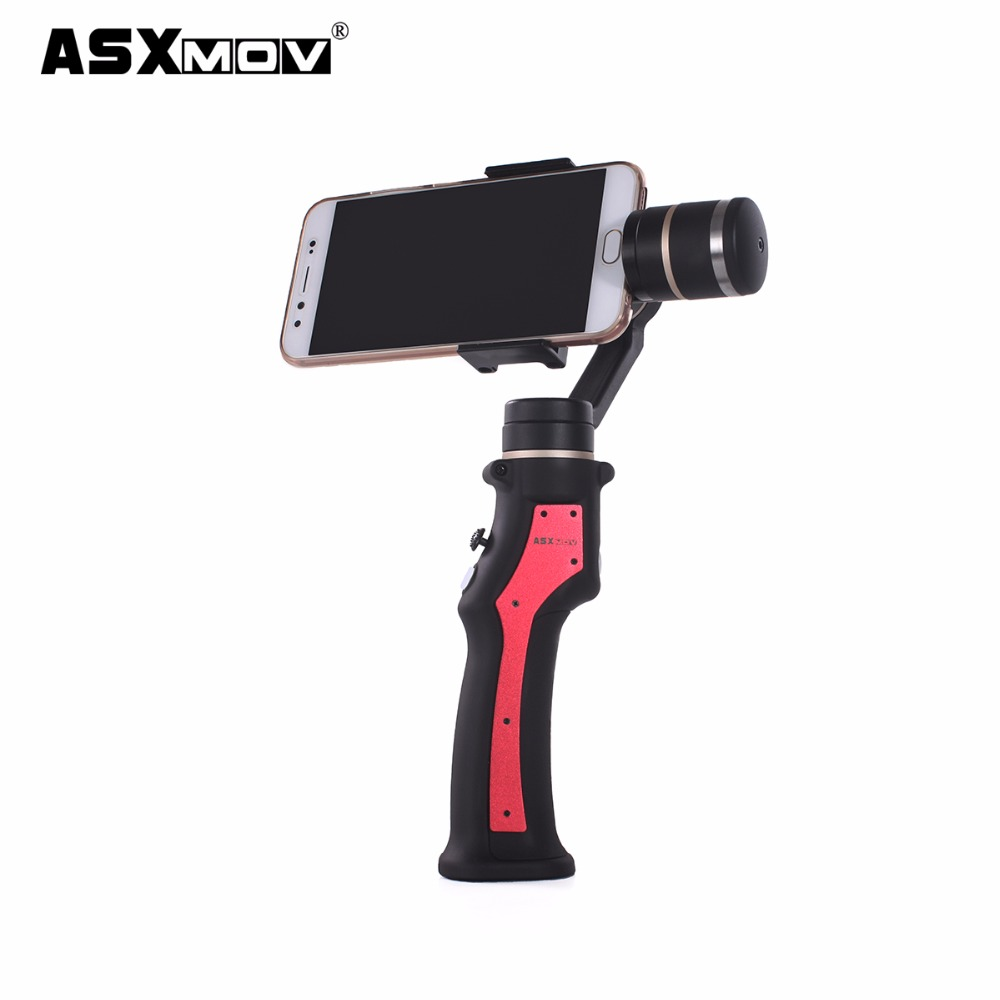 Asxmov 3 оси ручной смартфон Gimbal cideo стабилизатор Камера стабилизатор для iPhone 7 Plus/7/6S Плюс/ 6S/6 plus