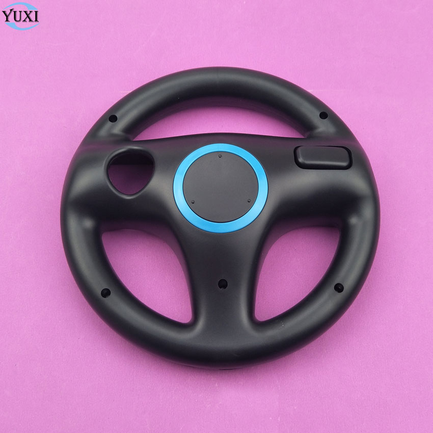 YuXi 6 colors Plastic Steering Wheel For Nintendo for Wii Kart Racing Games Remote Contr ...