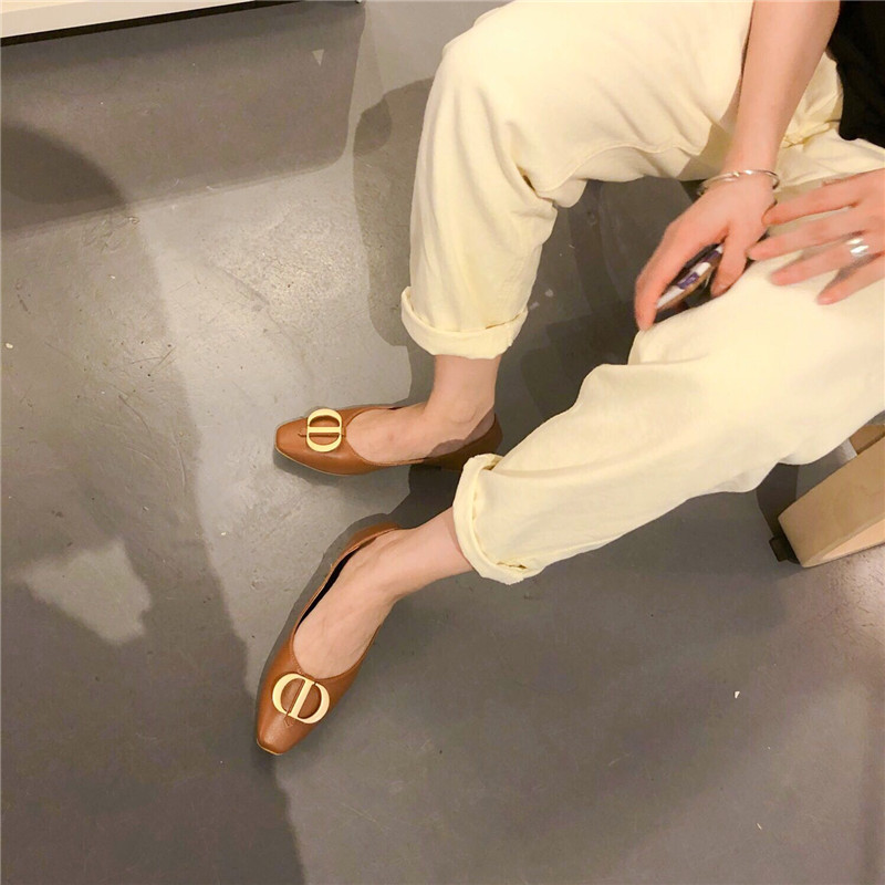 Sexy Conception Femmes Ballerines Arc Coréen marron Beige Ballerine Chaussures Wellwalk Femme Dames Printemps Appartements Balerinas 8vqTXnw