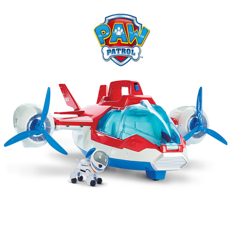 Paw Patrol Dog Toy Set Toys Air Patrol Aircraft Boat Bus Toy Dog Ryder Captain Robot Dog Action Figures Toy For Children Gift