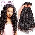 Индийский Девы Волос Глубокая Волна 4 Bundle Предложения 7А Необработанные Virgin Индийские волосы Вьющиеся Волосы Девственницы Мокрый И Волнистые Человеческие Волосы 8-28 дюймов