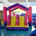 Uso doméstico Worldwide DHL frete grátis grande corrediça inflável, Feliz hop com ponte castelo, Meninas brinquedos