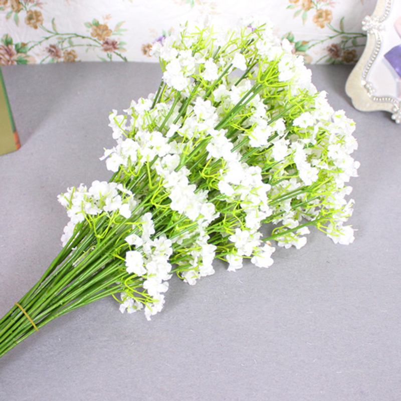 Rustic Artificial Flowers White Gypsophila 12