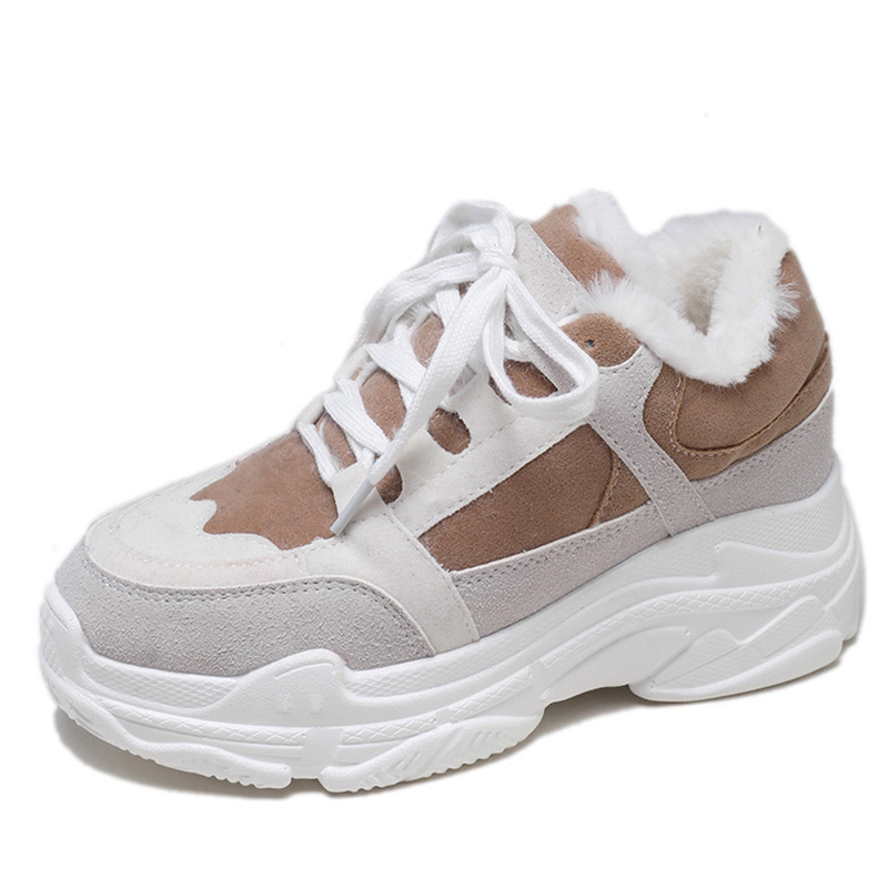 Warm Spring Winter Sneakers Women Plush Fur Shoes Casual Shoes Woman Brown  Platform Chunky Sneakers Lady Trainers baskets femme-in Women s Vulcanize  Shoes ... 760c53b5f966