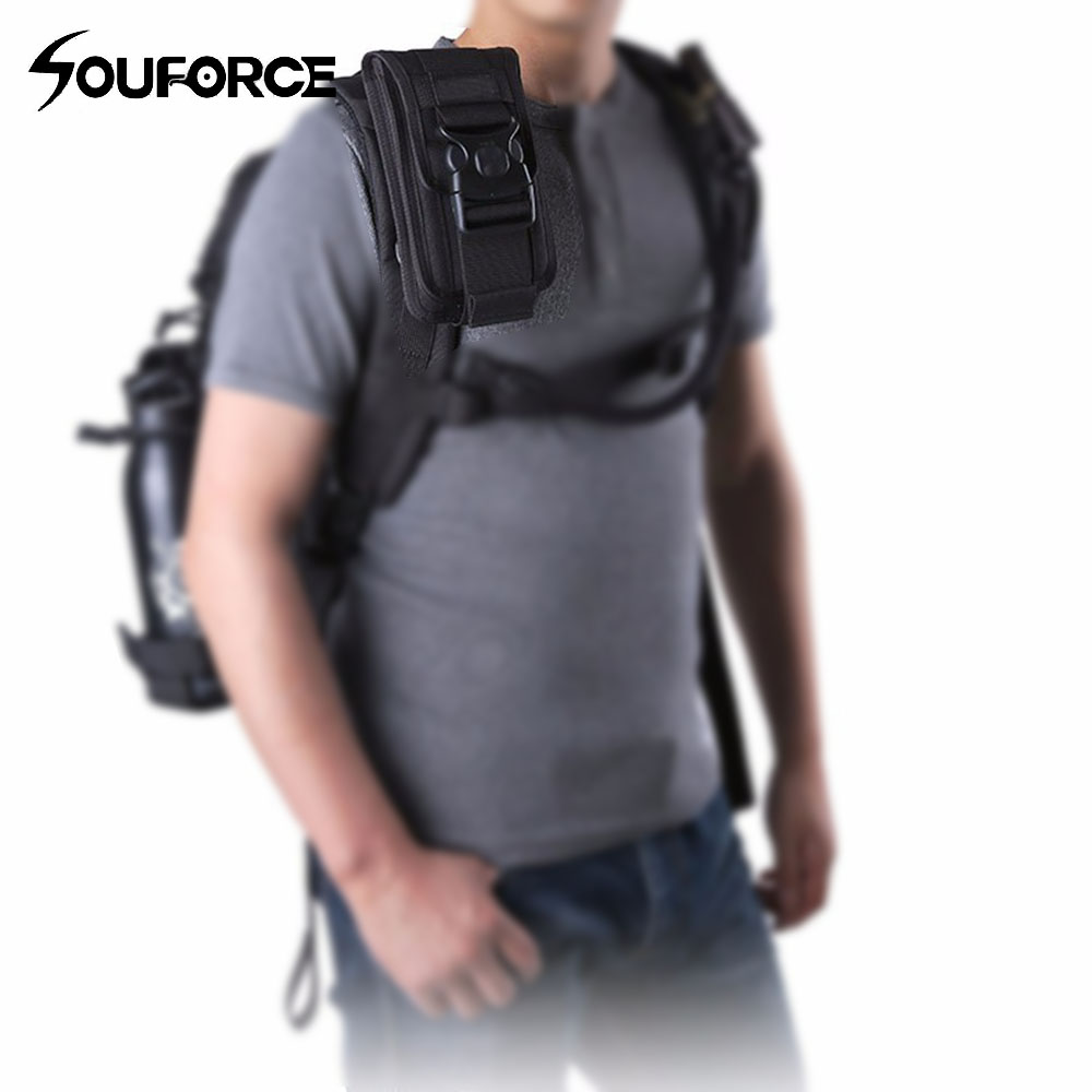 Tactical Waist Pack Shockproof Double Phone Pouch Wallet Card Hand Bag Molle System Gun Accessory for Camping Hunting