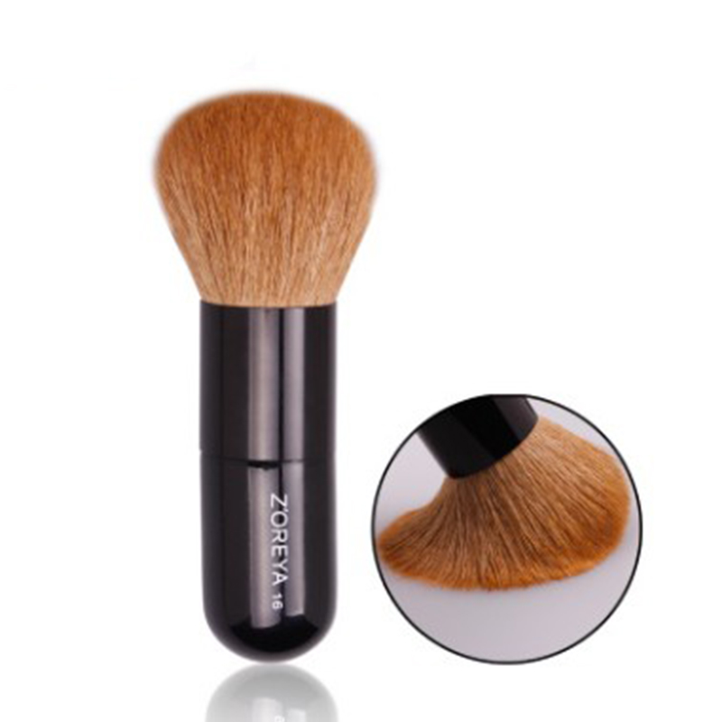 Yellow Brown White Peak Wool Honey Brush Face Blush Powder Brushes Beauty Makeup Tools ...