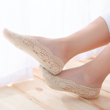 3Pair Women's Lace Socks Brand Quality Sock Slippers Female Shallow Mouth Socks Summer Thin Ankle Boat Socks Slippers Calcetines