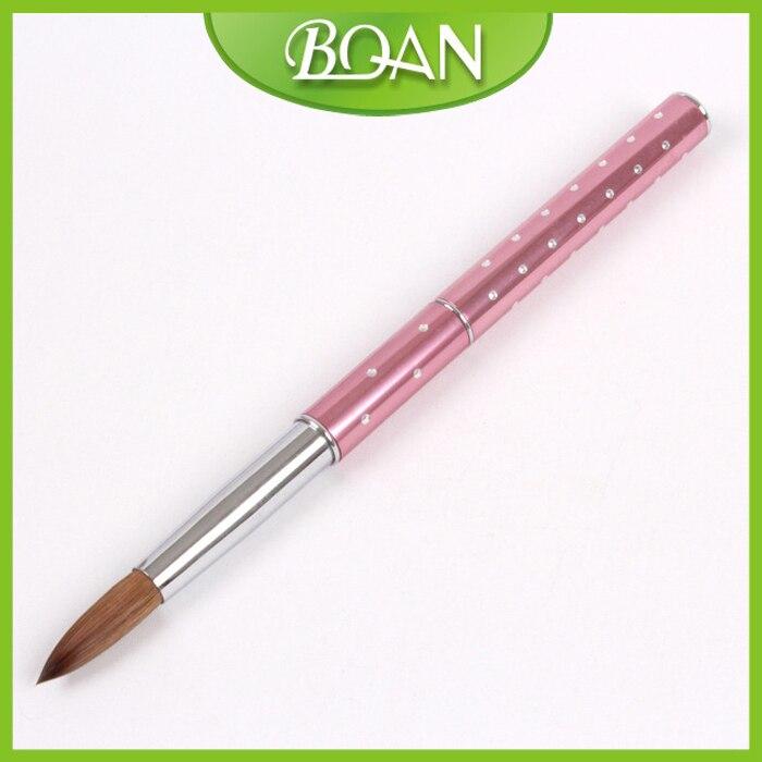 10 Pcs 12 Metal nail brush kolinsky Nail Acrylic brush for Sable hair brush