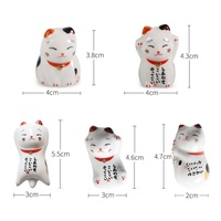 100pcs Cute Ceramic Cat Shape Chopsticks Stand Rest Spoon Holder Tableware Storage Rack for Kitchen Supplies W9652